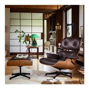 Poltrona Charles Eames Couro Natural 12 X Sem Juros