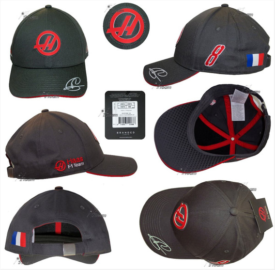 Gorra Romain Grosjean Haas F1 Team Producto Genuino 2017