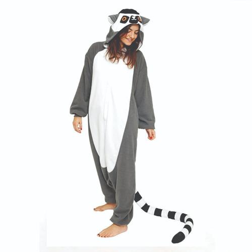 Lemure Guaxinim Pijama Macacão Kigurumi - Pronta Entrega