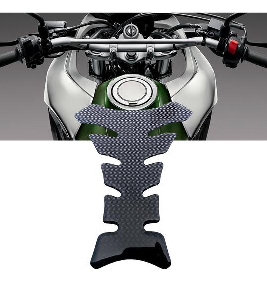 Adesivo Protetor Tanque Tank Pad Moto Fibra De Carbono Preto