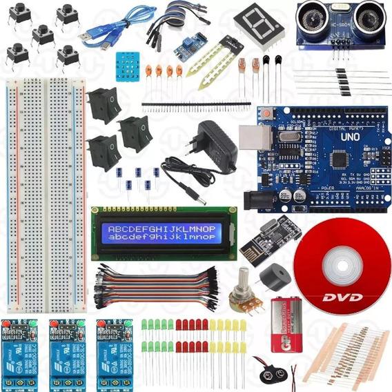Kit Arduino Uno R3 Curso Wifi Nrf24l01 Com Ebook E Caixa