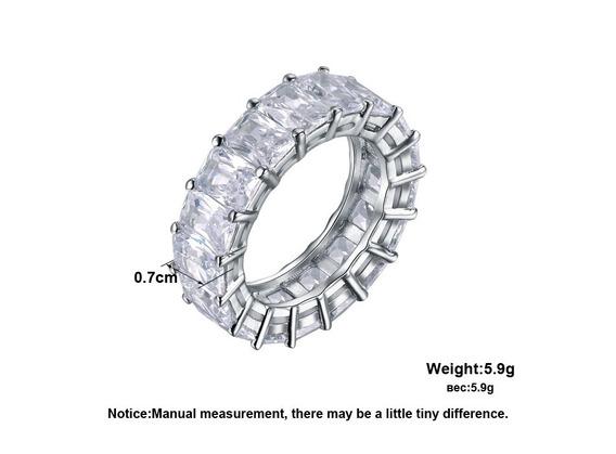 2 Anéis Austríaco Zircônia Cúbica Pedras Brilhante D Cristal