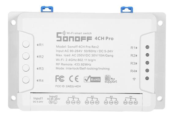 Sonoff 4ch Pro R2 Interruptor Wi-fi Inteligente Interruptor