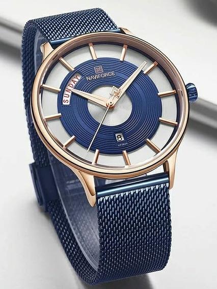 Relógio Naviforce Marca Superior Quartzo À Prova D