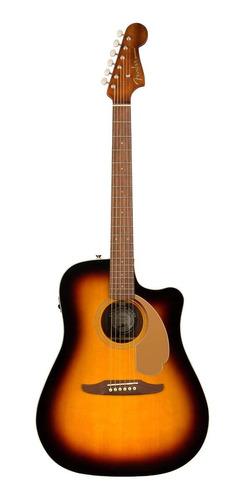 Guitarra electroacústica Fender California Redondo Player abeto  sunburst derecha