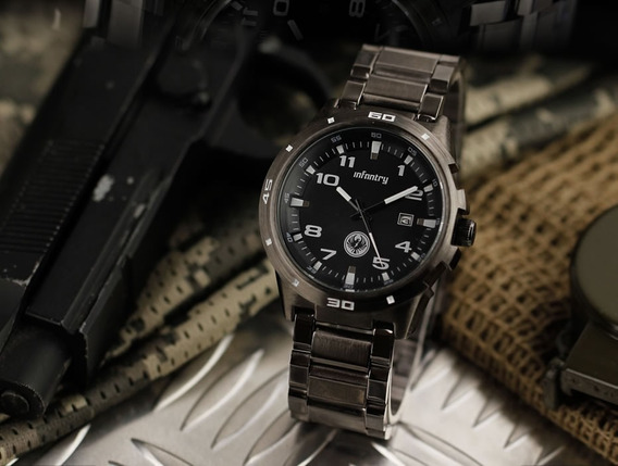 Relógio Masculino Analogico Aço Inoxidável Infantry Promoção