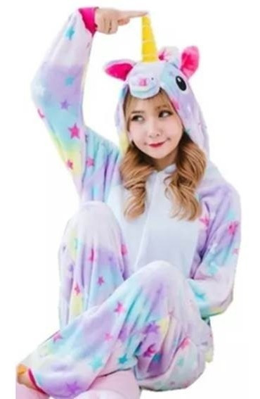 Pijama Unicornio Estrellas Moda Mameluco Kigurumi Cosplay