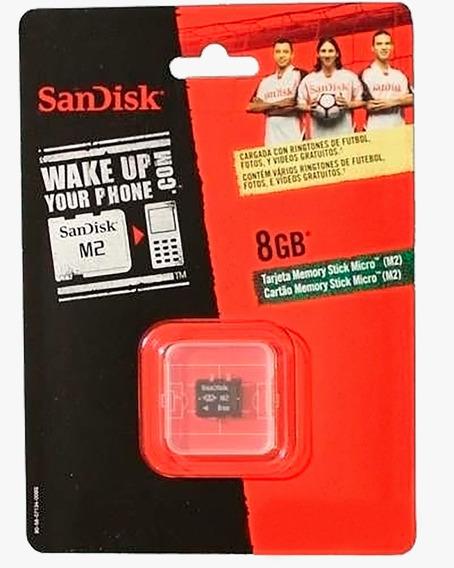 Cartão De Mem. Sandisk 8gb M.stick Micro M2