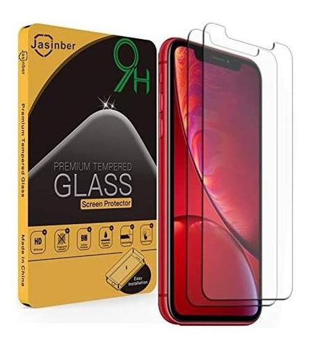 Imagen 1 de 3 de Mica De Vidrio Cristal Templado Para iPhone 11  2 Pz