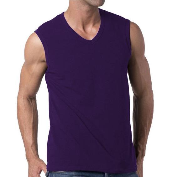 Kit Com 8 Camisetas Slim Fit Machão Regata Masculina Blusa