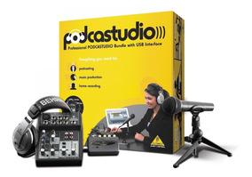 Kit Podcast Studio Usb Home Studio - Behringer + Nf Garantia