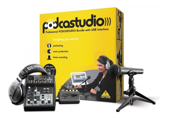 Kit Podcast Studio Usb Home Studio - Behringer + Nf Garantia