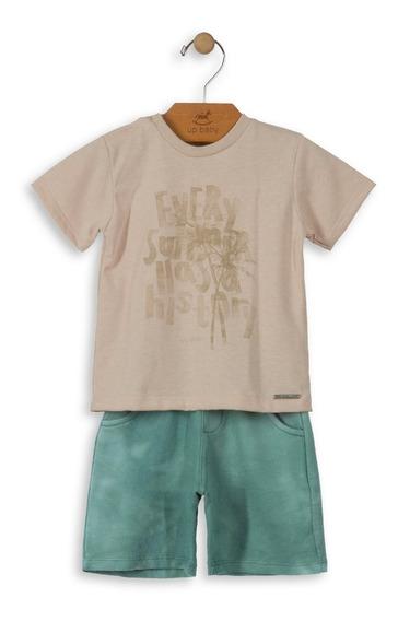Conjunto Camisa E Bermuda Infantil Up Baby