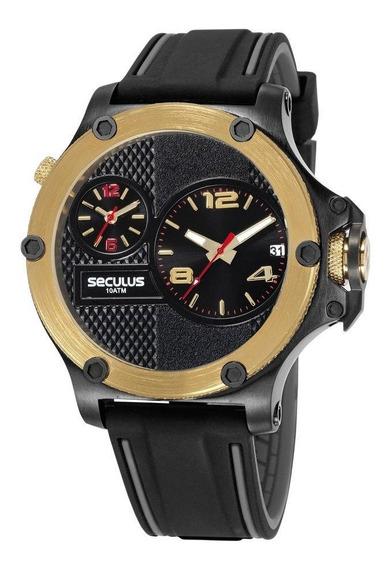 Relógio Masculino Seculus Analógico 20732gpsvhl1 - Preto