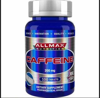 Cafeina Allmax Importada 200mg 100 Tablets