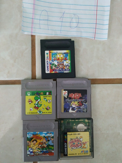 Lote 5 Jogos Gameboy Color A10