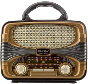Radio Am Fm Retro Caixa Som Bluetooth Bateria Recarregavel