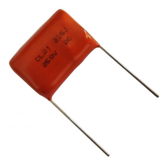 Capacitor Poliester 2,2 X 250v Pacote 80 Peças