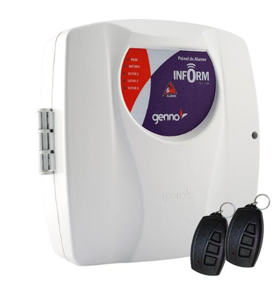 Central De Alarme Inform Slim 3 Setor Genno Com 2 Controles