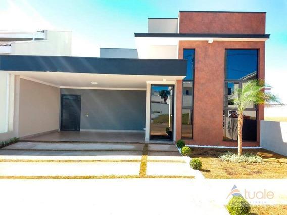 Casa Com 3 Dormitórios À Venda, 155 M² - Condomínio Jardim De Mônaco - Hortolândia/sp - Ca6389