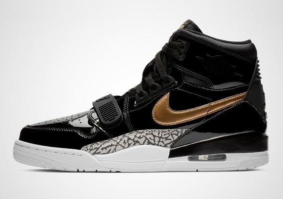 Tenis Nike   Jordan Legacy 312 Negro / Dorado