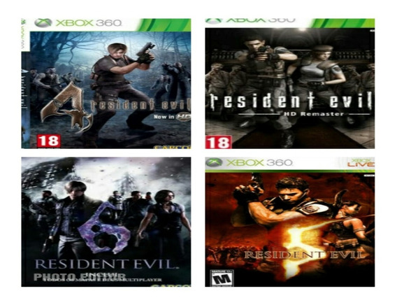 Combo Resident Evil Xbox 360 Midia Digital