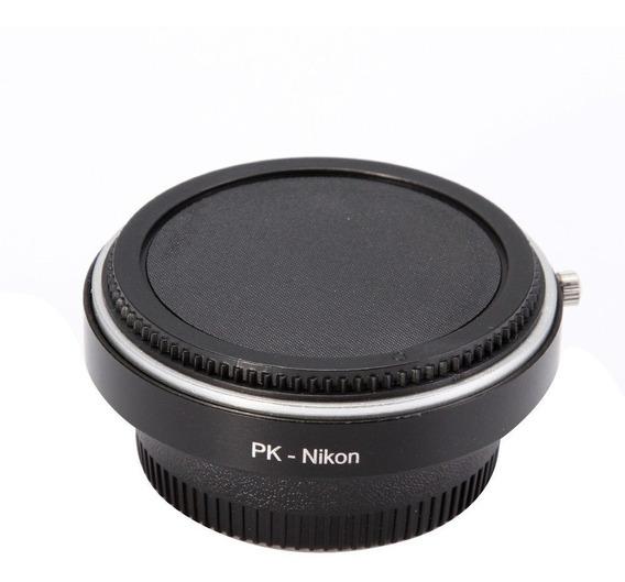 Adaptador De Lentes Pentax Em Nikon Pk-ai Foco Infinito