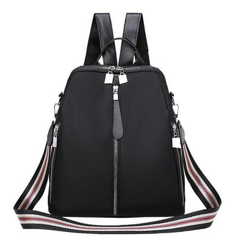 Imagen 1 de 4 de Bolsa Backpack Mochila 3 Cierres Elegante Envío Gratis