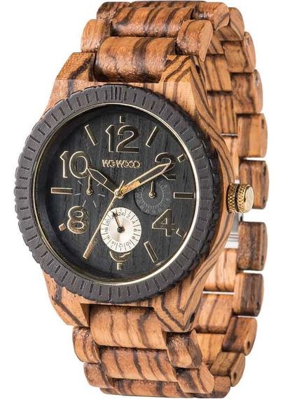 Relógio De Madeira Wewood Kardo Zebrano