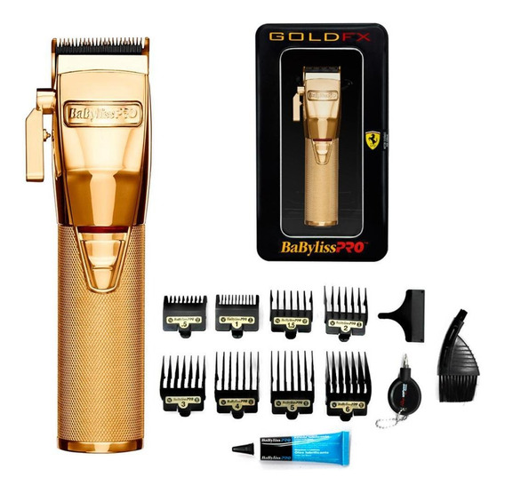 Maquina De Cortar Cabelo Barba Babyliss Cordless Pro Gold