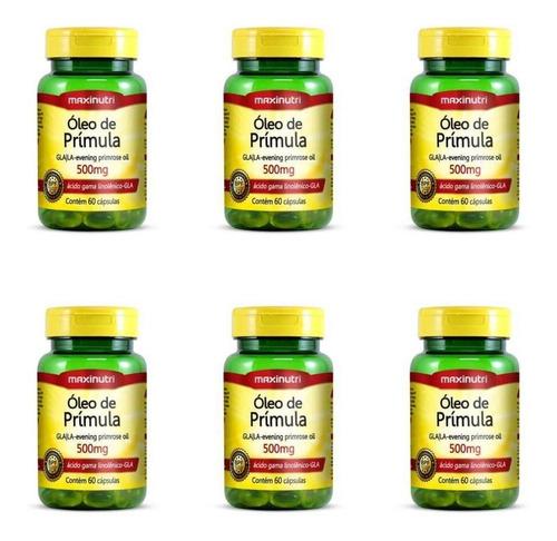 Imagem 1 de 1 de Maxinutri Óleo Primula 500mg C/60 (kit C/06)