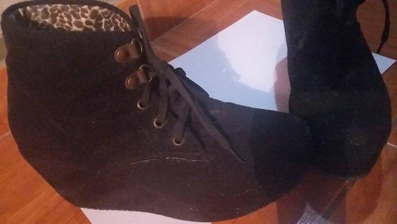 Zapatos Tipo Bota Negros Para Nenas