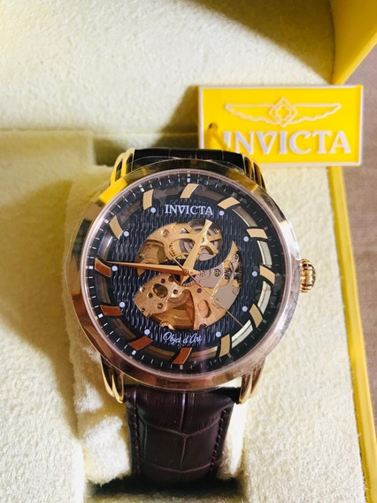 Invicta 22634 Objet D Art Automatic Couro 12x S/ Juros