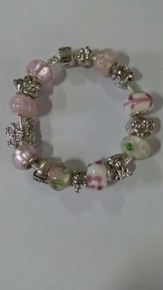 Pulseira Com Berloques Pandora Completa Prata 925