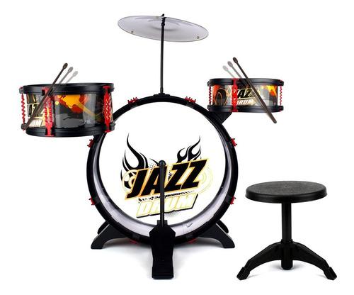 Imagen 1 de 5 de Set Bateria Musical 3 Tambores Jazz Drum Juguete Bestoys