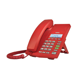 Teléfono Ip Fanvil X3cr, 2 Lineas Sip, Color Rojo, Poe