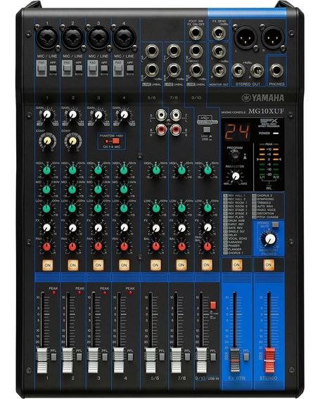 Mesa De Som Mg10xuf Preta Yamaha