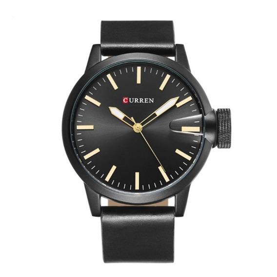 Relógio Masculino Curren Analógico 8208 Preto E Prata