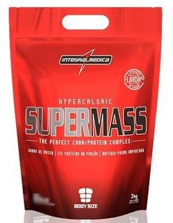 Supermass Hypercaloric - Morango 3000g - Integralmedica