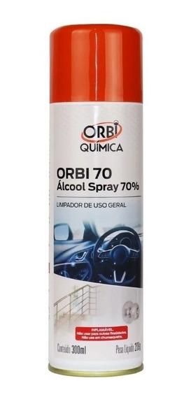 Álcool Spray Orbi Quimica De Uso Geral 65 Inpm/70 Gl 300ml