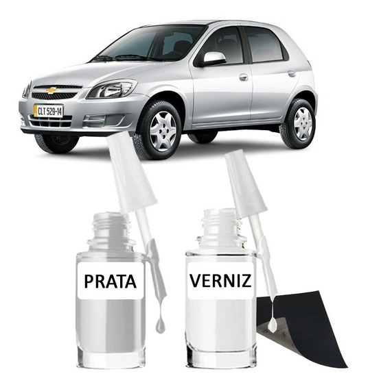 Tinta Tira Risco Automotivo Chevrolet Celta Prata Switchblad