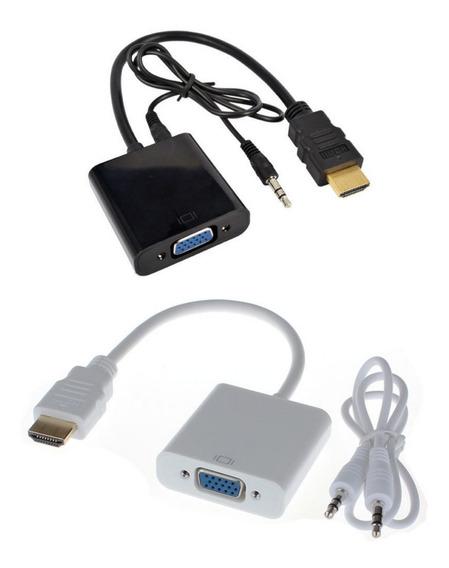Cabo Adaptador Hdmi Vga P2 Audio Monitor Tv Pc Ps4 Notebook