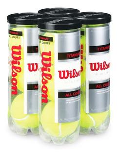 4 Tubos De 3 Pelotas Bolas De Tenis Wilson Titanium