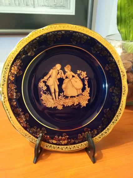 Plato De Porcelana Limoge De Coleccion