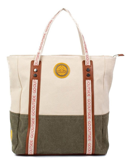 Cartera Shopper Canvas Isadora