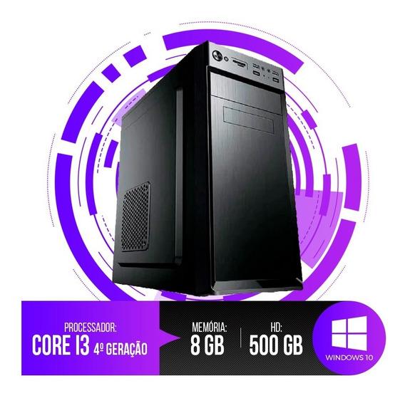 Pc Intel Core I3-4130,8gb Ram,hd 500gb,wi-fi+frete Grátis
