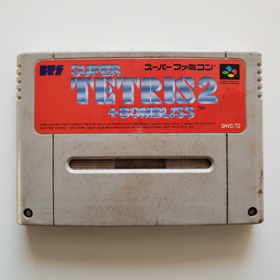 Super Tetris 2 + Bombliss - Original Snes Super Nintendo