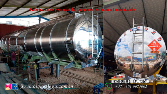 Tanque En Acero Inoxidable, Trailer, Cama Baja, Fabricación