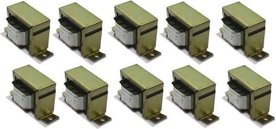 10 Transformador Trafo Audio Linha T10 210/10w, Som Ambiente