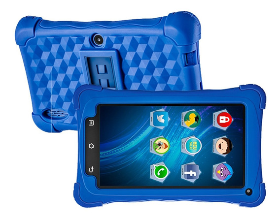 Tablet Kids 8gb Azul Android 7.1 Tela 7 8gb 2mp Mondial